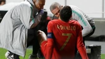 VIDEO: ¡Como Messi!, Ronaldo también abandona partido en Fecha FIFA por lesión