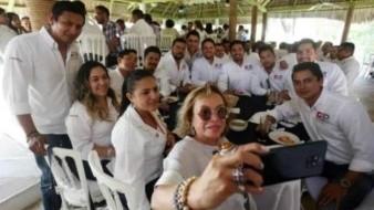 Elba Esther reaparece en Chiapas en evento del partido Redes Sociales Progresistas
