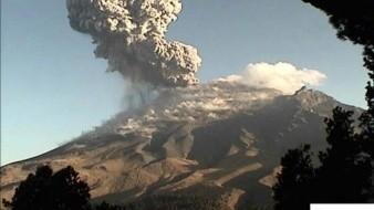 Impactantes imágenes de la nueva explosión del Popocatépetl