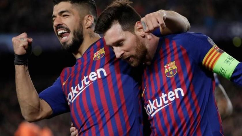 FOTO: ¡Increíble!, lo que Suárez le hizo a su esposa en compañía de Messi