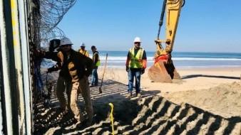 Refuerza EU muro de Playas de Tijuana