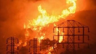 Incendio en California fue provocado por cables del tendido eléctrico, reportan