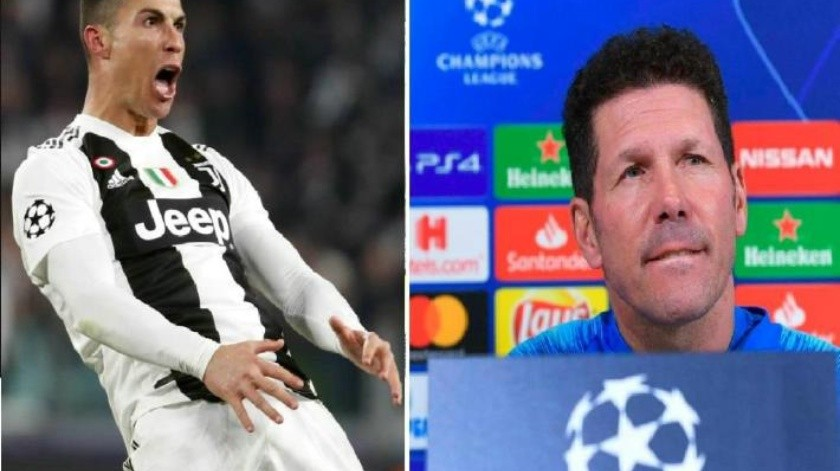 Responde Diego Simeone tras ser imitado por Cristiano Ronaldo en polémico gesto