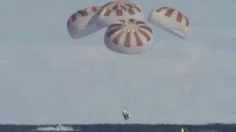 VIDEO La cápsula Dragón de SpaceX finaliza el vuelo de prueba