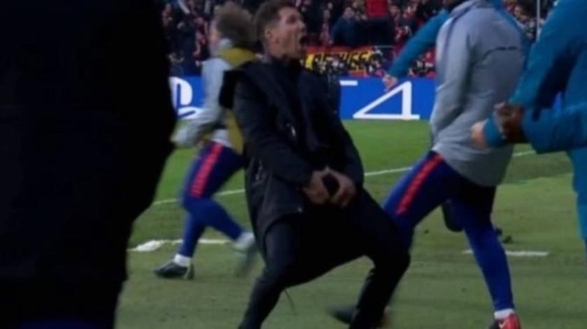 UEFA multa con 20 mil euros a Diego Simeone por gesto obsceno durante el partido de Madrid vs Juventus