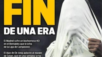 Medios españoles destrozan el fracaso del Real Madrid