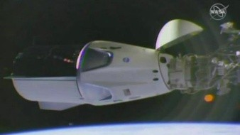 Cápsula de SpaceX llega a la Estación Espacial InternacionaI