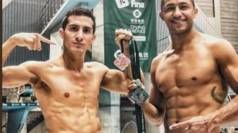 Los clavadistas Rommel Pacheco y Jahir Ocampo ganan medalla de plata en la Serie Mundial