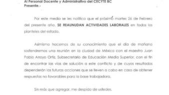 Reanudarán clases mañana en Cecyte