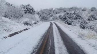Tramos Ímuris-Cananea y Agua Prieta-Janos continúan cerrados tras nevada