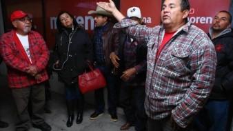 Manifestantes señalan que les prometieron 30% de las candidaturas de Morena, acusan incumplimiento