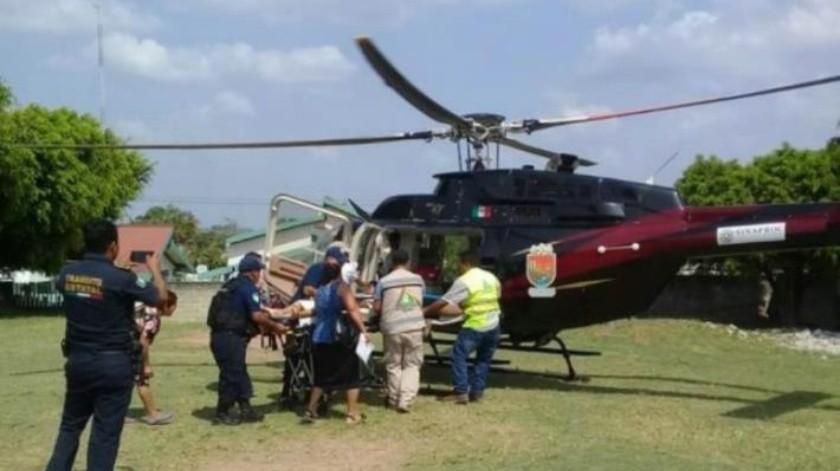 Serpiente muerde a niño de 11 años en Chiapas; lo trasladan en helicóptero