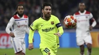 Barcelona iguala sin goles en casa del Lyon en el juego de ida de octavos de final de la Liga de Campeones de Europa