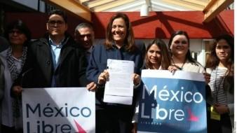 México Libre, de Margarita Zavala, inicia trámite para convertirse en partido político