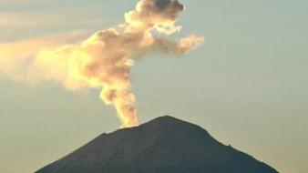 Se prevé incremento de ceniza tras emisión de gases en el Popocatépetl