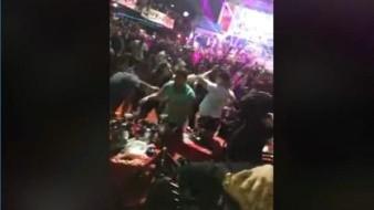 VIDEO: Presentación de grupo Codiciado termina en riña, en bar de Tijuana; hay un policía lesionado