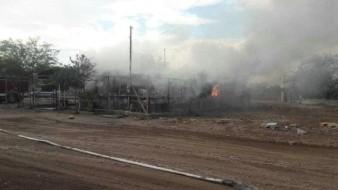 Sufren quemaduras dos adultos mayores por incendio en la colonia Valle de la Plata de Mexicali