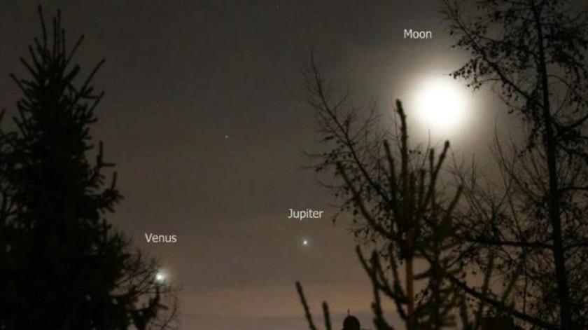 FOTOS: Alineación pudo ser visible desde la Tierra sin necesidad de telescopios