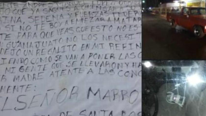 Localizan artefacto explosivo afuera de refinería en Salamanca y colocan manta contra AMLO