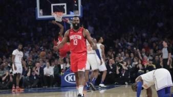 Harden anota 61 y ganan los Rockets