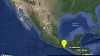 Se registra sismo de 5.8 grados en Salina Cruz, Oaxaca