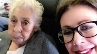 Celebra Laura Zapata cumpleaños de su abuela y Thalía brilla por su ausencia