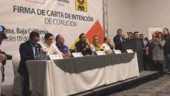Anuncian PES, PBC y PRD intención de coalición; llevarían a Leyzaola como candidato