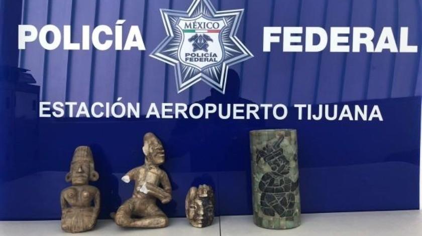 Decomisan piezas arqueológicas en Aeropuerto de Tijuana
