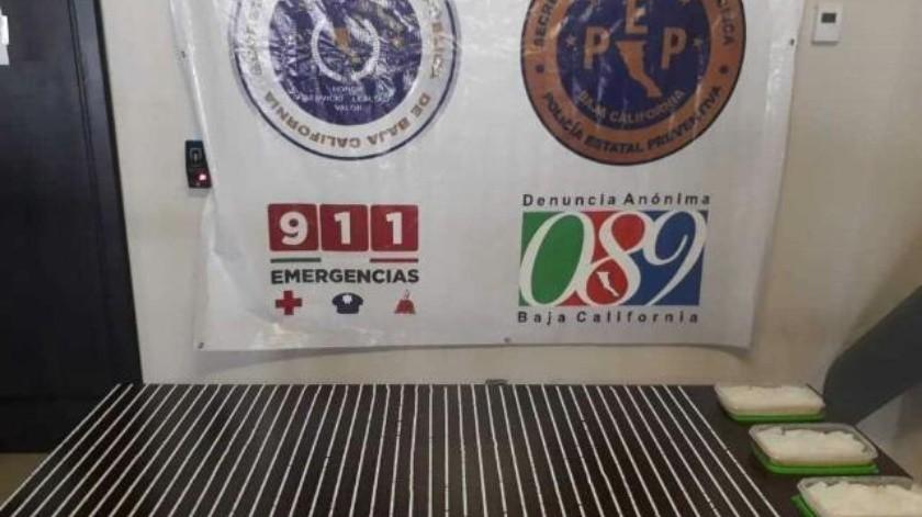 Incauta PEP más de un kilo de metanfetamina en Tijuana