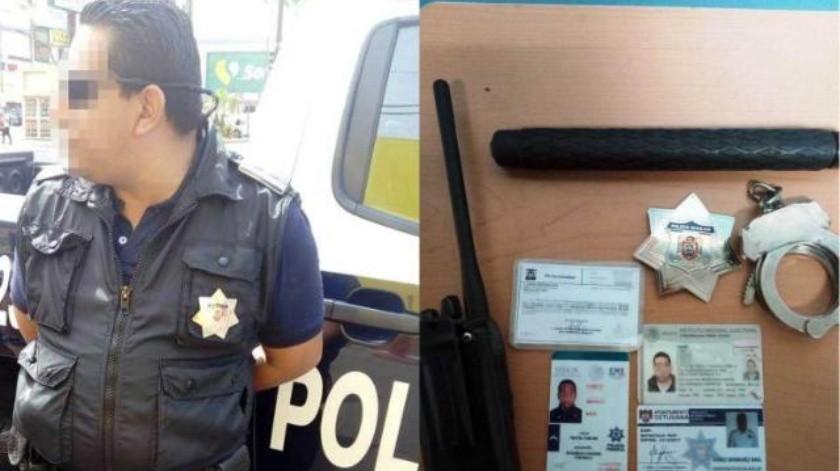 Se hacía pasar por policía comercial en Tijuana; es detenido