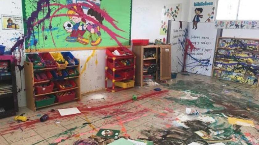 Vandalizan jardín de niños en Rosarito