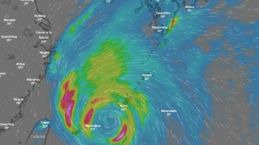 El potente tifón Kong-rey podría afectar el Sur de Japón y Corea del Norte