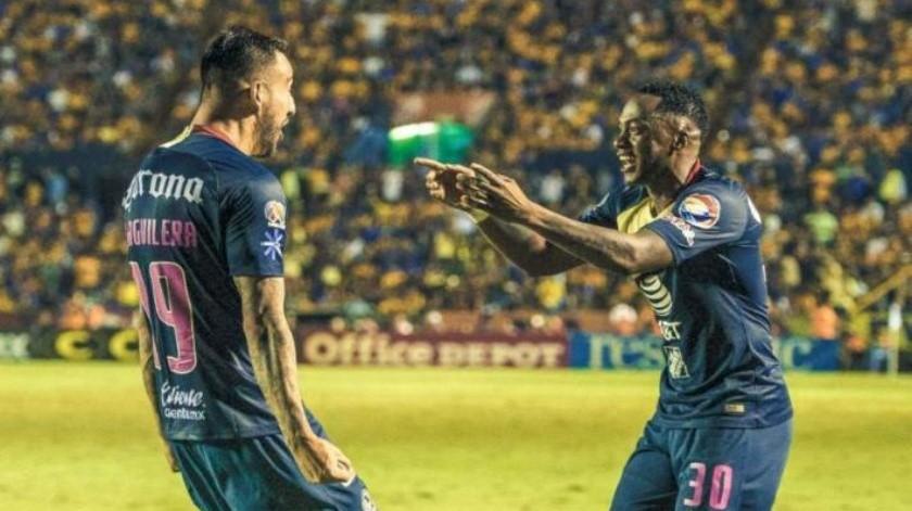 Con gol del cumpleañero Aguilera y Piojo expulsado, América gana en el Volcán a Tigres