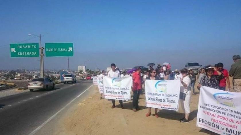 Protestan vecinos de Playas de Tijuana por edificación de nuevo fraccionamiento