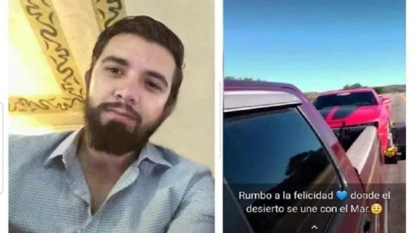 Dilan viajaba desde EU a Guaymas para ver a Daneth; desaparece en carretera de Sonora
