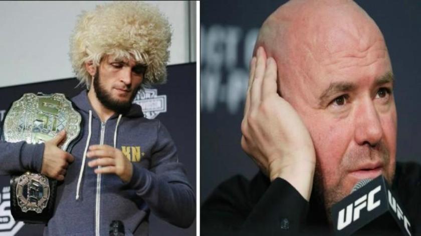 FOTO: La amenaza de Khabib al presidente de UFC por reprobar su actitud