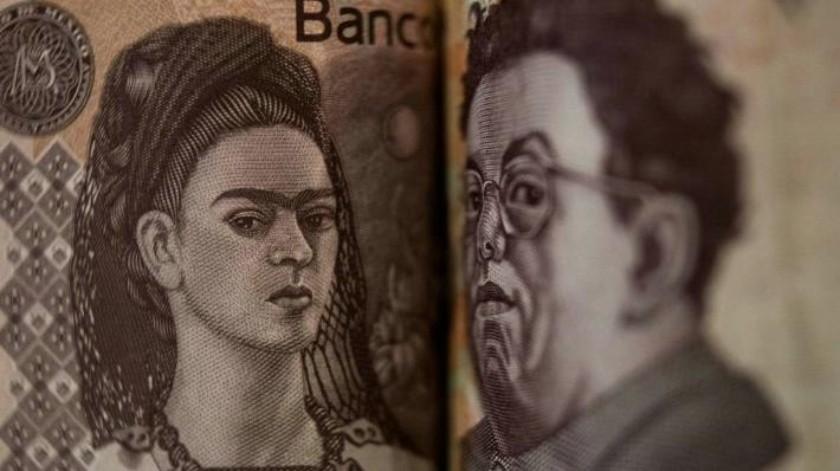 Viven Frida Kahlo y Diego Rivera en los billetes mexicanos