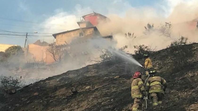 Incendio en pastizal ubicado en Libramiento Sur