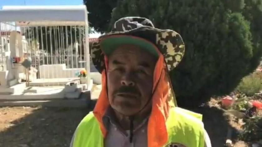"""""""Se aplacó la delincuencia"""": panteonero en Nogales"""