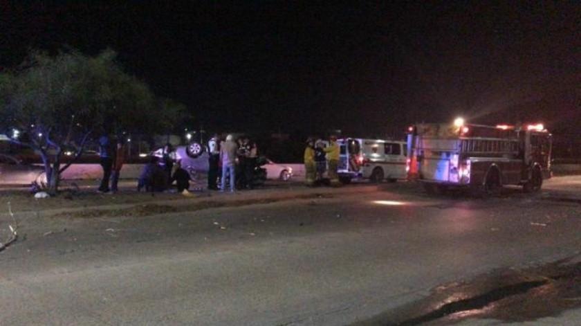 VIDEO:Accidente vehicular deja tres lesionados sobre la Vía Rápida Oriente en Tijuana