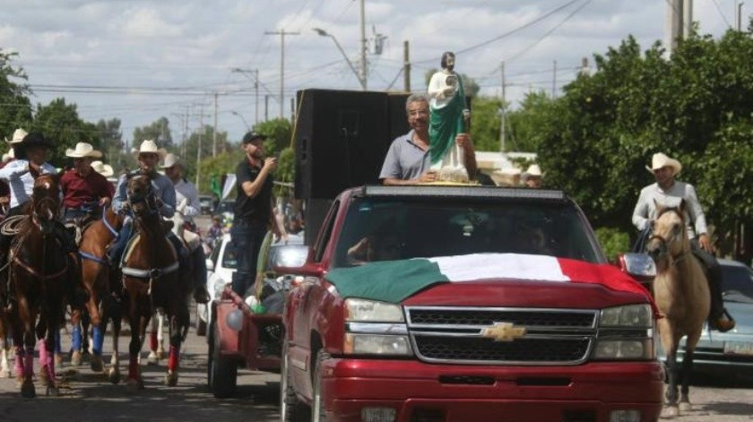 Detienen a tres en cabalgata a San Judas