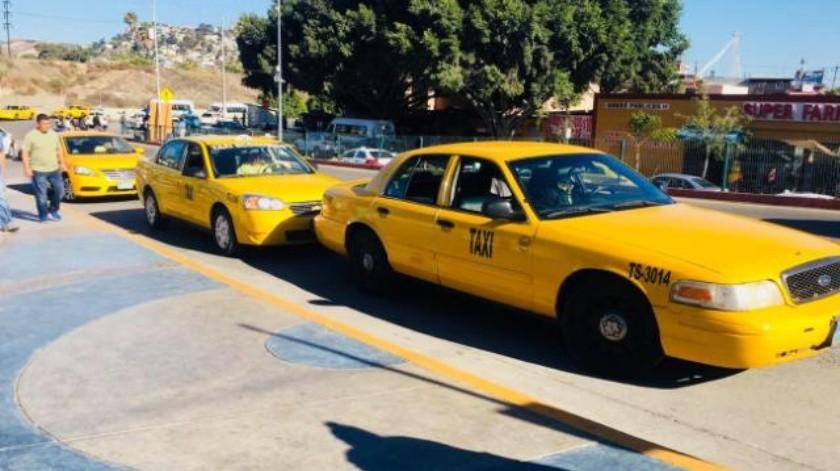Regresan los taxis amarillos a la línea en Tijuana