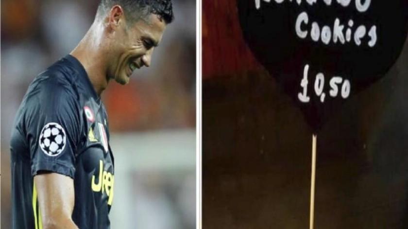 FOTO: Escándalo sexual de Ronaldo inspira galletas en cafetería inglesa