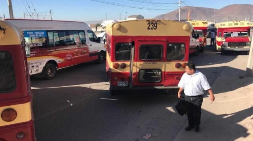 Pelean por la ruta Calfia y Altisa en Terrazas del Valle en Tijuana