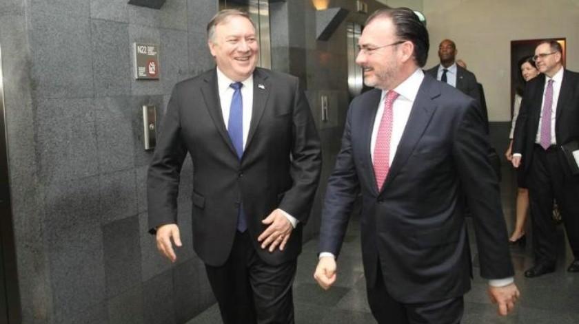 Mike Pompeo se reúne con Luis Videgaray