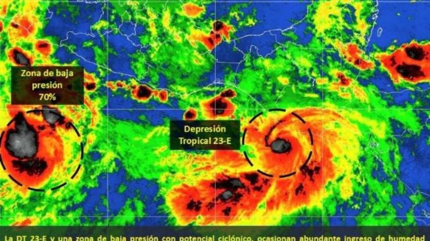 Depresión Tropical 23-E se forma en el Pacífico; prevén lluvias intensas para Chiapas y Oaxaca