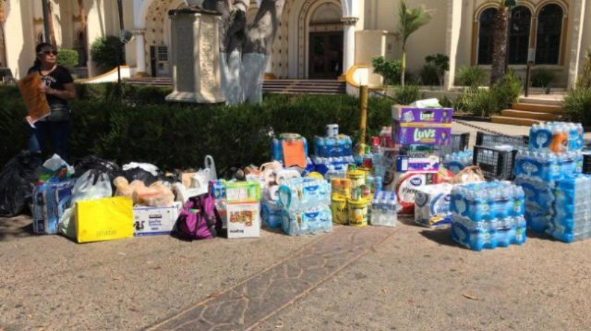 Montan centro de acopio en zona Centro de Tijuana para ayudar a Sinaloa