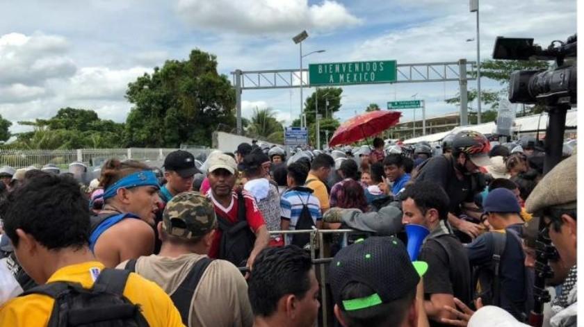 Reinician paso ordenado de migrantes