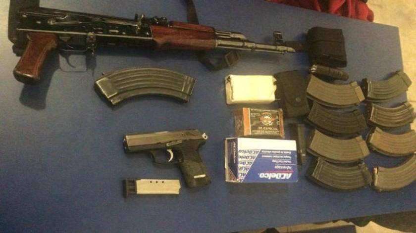 En hechos distintos, detienen a cuatro personas con armas de fuego en Cajeme