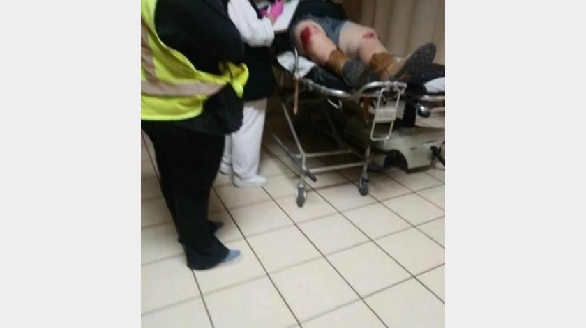 Motociclista resulta herido tras perder el control